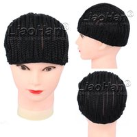 Wholesale Cornrows wig cap for making wigs with adjustable strap Crochet Braided Wig Cap Stretchable and breathable Hair Net
