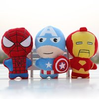 Wholesale Avengers full set of five plush Mobile Phone Pendant Cartoon doll ornaments bag men and women Plush Toys cm