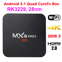 Wholesale MXQ Pro Android TV Box RK3229 Set Top Box K Ultra HD Quad core Streaming Media Player Kodi Full Loaded Support WiFi HDMI2 DLNA