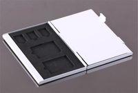 Wholesale Metal Aluminum K Micro SD TF MMC Memory Card Storage Box Protecter Case Holder