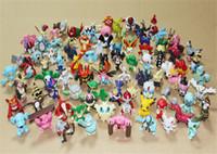 Wholesale 150pcs set Poke Figures Toys cm Multicolor Pikachu Cartoon Charizard Eevee Bulbasaur Suicune PVC Mini Model Toy Kids Christmas Toys