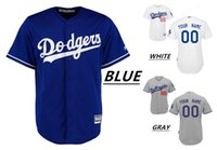 Wholesale 2016 Custom Los Angeles Dodgers Cool Base Majestic Throwback Baseball Jerseys KERSHAW Home Away Men s High Quality MLB Stitched Wear
