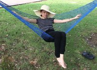 Wholesale Mesh Hammock High Quality Piece New Nylon Hammock Hanging Bed Mesh Net Outdoor Camping For Single