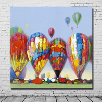balloons decorations pictures - Colorful Balloon Oil Painting Modern Canvas Art Pictures on Wall Modern Bedroom Decoration High Quality Abstract Oil Painting Unframed