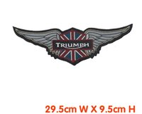 Wholesale embroidery patch motor rider big patch iron on jacket back dress decration welcome customized patch