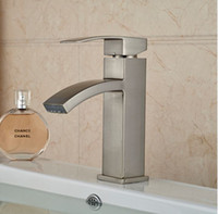 bathroom vanities small bathrooms - And Retail Promostion Waterfall Bathroom Basin Faucet Brushed Nickel Vanity Sink Mixer Tap Vessel Small Faucet