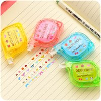 Wholesale 12 Cute lace deco tape DIY correction tape for letter diary scrapbooking tools zakka stationery Office supplies