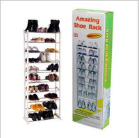 Wholesale 10 Tier Metal Mesh Shoe Rack Bronze Keep your shoes organized Expand storage options Homestyle Shoe Cabinet simple Shoes Racks Storage