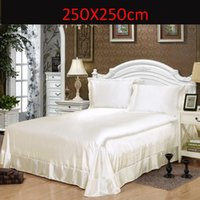 Wholesale Luxury Brand Flat Sheet Twin Queen King Size sheets Satin Silk Imitation Silk Super Soft High Quality Bed Sheets Single Double Flat Sheets
