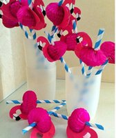 animal tissues - FLAMINGO Straws LUAU PARTY Table DECOR Cardboard Tissue Flexi straws Tropical Drinks Food Grade Paper Straws with Flamingo LC389
