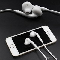Wholesale Premium Stereo Quality For Samsung S7 S6 Earphone Earbud Headset Headphones for Galaxy S6 S6 Edge mm Non Packaging White EO EG920LW
