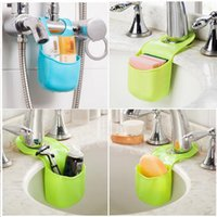 Wholesale Mini Kitchen Sponge storage Rack Over The Sink Saddle Organizer Shelf Item Gear Accessories Supplies Products Kitchen Bath Gadgets