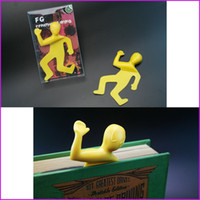 Wholesale Interesting Dead Mark Bookmark Creative Help Me Squashed Flat Book Mark For Books Paper Clips Office Supplies