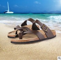 arizona beaches - Coffee Birkenstock Arizona Men Beach Sandals Flip Flops Man Summer Fashion Flat Slipper Shoes