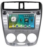 atv radio - 8 inch Car DVD Player for Honda CITY Car Audio Video With GPS BT CDC SD USB ATV RDS IPOD G SD Map Iron gray Silver