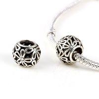 Wholesale chunky beads silver tibetan silver Murano Glass Beads Europe Fits pandora Bracelets Charm necklaces pendants