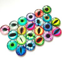 Wholesale Round Glass Cabochon D12mm Mixed Dragon Eyes Pattern Cameo Pendant Base Embellishments Supplies for Jewelry Clasps Craft