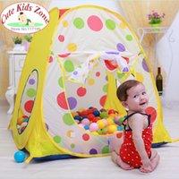 Wholesale Child baby gift promotion kids play tent children baby beach tent play house spot indoor outdoor children tent ZP2002