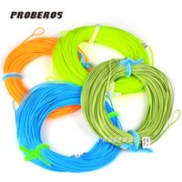 Wholesale Proberos FT Weight Forward Floating Fly Fishing Line WF F F F F F F F Fly Line Moss Green Orange Fluo Yellow Color
