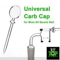 big lollipops - Newest Super Round lollipop Styled Universal Quartz Carb Cap For Most Quartz Banger Enails Diamond knot big bowl quartz nail domeless