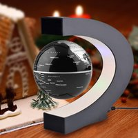 Wholesale C Shape LED World Map Floating Globe Tellurion Magnetic Levitation Light Antigravity magic novel light Home Decor