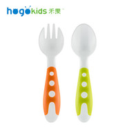Wholesale SMILE MARKET Top Selling Plastic High Quality White Color Portable Fun Fork and Spoon Suit