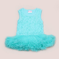 baby teddy suit - 2016 Hot Sell T Baby Rose Flower Lace Romper Tulle Dress Sleeveless Straps Solid Teddy Suit Set Toddler Girl Clothes One Piece