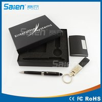 Wholesale 2016 NEW High end Company Gifts Business Travel Portable Tool Kits including Name Card Holder Key Chain and Ballpoint Pen