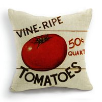 Wholesale 45CM Cushion Cover Pillow Case Throw Home Sofa Decorative Vegetable Tomato