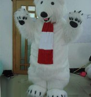 Wholesale High quality polar bear Bear Character Mascot Costumes Halloween Costume Cartoon Outfit Fancy Dress Suit Adult Size