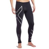 al por mayor los hombres de nylon apretado-Venta al por mayor-nueva marca de ropa Pantalones de la compresión de los hombres Pantalones de la ropa del gimnasio Pantalones de los hombres Pantalones cortos de Gymshark al aire libre En la acción