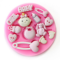 baby shower fondant - Baby Shower Party D Silicone Fondant Mold For Cake Decorating sugar craft tools