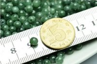 Wholesale 250pcs MM Natural emerald Burmese Jade green jade beads ice round bead DIY bracelet necklace Loose Beads Fast Shopping