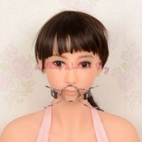 adult x games - Spider X Style Flirting Oral Fixation Mouth Gag Stainless Steel PU Leather Bite Mouth Stuffed Gag Adult Games Sex Toys Products