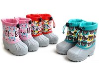 Wholesale 5 years old children is waterproof prevent slippery heat preservation many color professional outdoor sonw boots