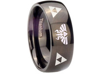 animations titanium - Zelda New Zelda ring men titanium steel rings European and American film and television animation style ring ring legend triangle logo