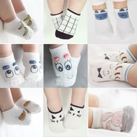 Wholesale Hot sale Fashion Cotton Unisex Cute Boys Girls Baby Socks Cartoon Soft Floor skid resistance Baby Socks