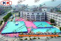 water park games - Summer water party park games mega frame pool and water slide inflatables giant water park