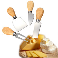 Wholesale 1 Set Knives Bard Set Oak Handle Cheese Knife Kit Kitchen Cooking Tools Useful Accessories