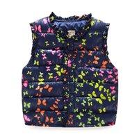 Wholesale 2016 Autumn Winter Girl Boy Cotton Vest Jacket Children s Clothing Baby Kids Clothes Keep Warm Butterfly Washable Vest