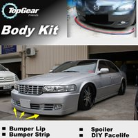 Wholesale For Cadillac Seville Bumper Lip Lips Front Skirt Deflector Spoiler For Car Tuning The Stig Recommend Body Kit Strip