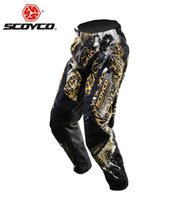 Wholesale SCOYCO Professional Motorcycle Dirt Bike MTB DH MX Riding Trousers Motocross Off Road Racing Hip Pads Pants Breathable Clothing