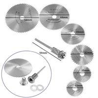 Wholesale 6PC Rotary Circular Saw Blades Tool Kit Cutting Discs Mandrel For Dremel Cut off Kits E3403 P50