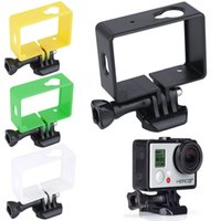 Wholesale 1Pcs New Arrival Frame Bumper Mount Protective Cover For GoPro Xiaoyi Cameras