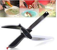 Wholesale 2 in Kitchen Smart Scissors Knife Set With Mini Cutting Board Clever Cutter