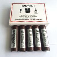 18650 battery - Authentic Brown LGHG2 Rechargeable Lithium Battery For Ecigarette Box Mods mah A Max PK HE4 HE2 R VTC4 VTC5 Li ion Batteries