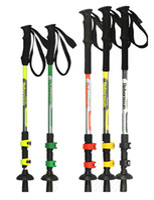 Wholesale Carbon Trekking Poles Ultralight Cane Straight Shank Lock folding Section Adjustable Telescopic Pole Hiking Walking Sticks Pole