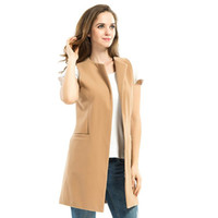 Wholesale SheIn Womens Casual Outerwear Coats Ladies Autumn Multicolor Contrast Collarless One Button Closure Color Block Vest