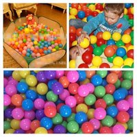 ball pit balls - New Secure Baby Kid Pit Toy Swim Fun Colorful Soft Plastic Ocean Ball Toys for Baby