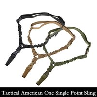 american rifle - 2016 Tactical American sling One Single Point Sling Adjustable Bungee Rifle Gun Sling Strap System Tactical Single Point Gun Sling